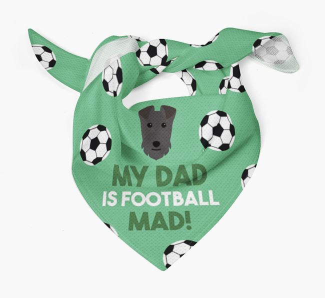 'My Dad Is Football Mad' Bandana with Lakeland Terrier Icon