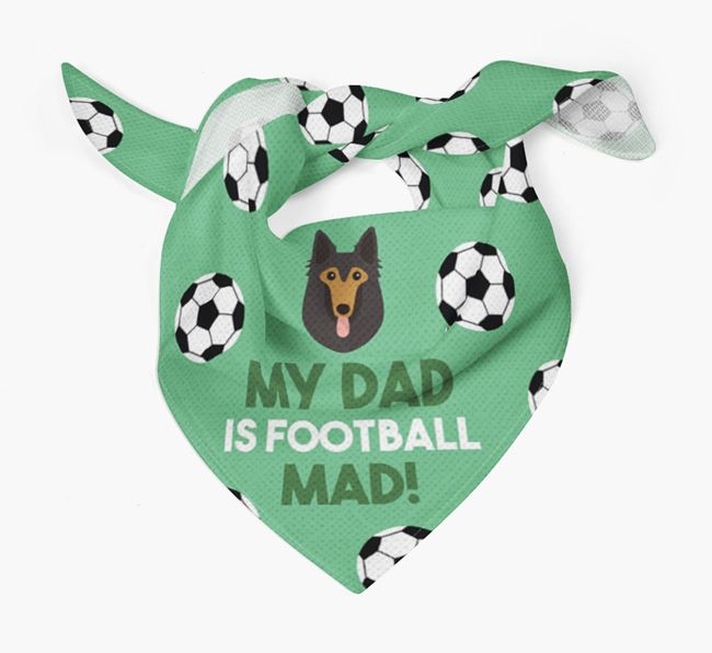 'My Dad Is Football Mad' Bandana with Mixed Breed Icon