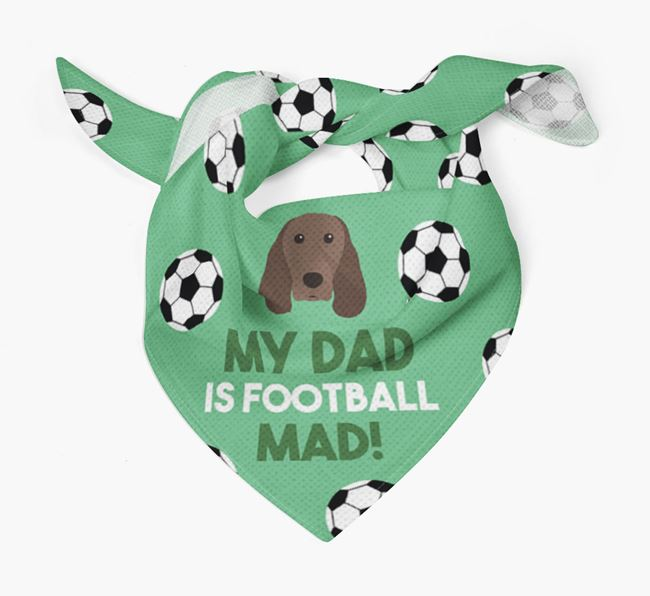 'My Dad Is Football Mad' Bandana with Springer Spaniel Icon