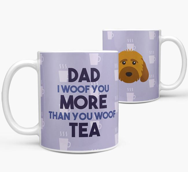'Dad I woof you more than you woof tea' Mug with Cockapoo Icon