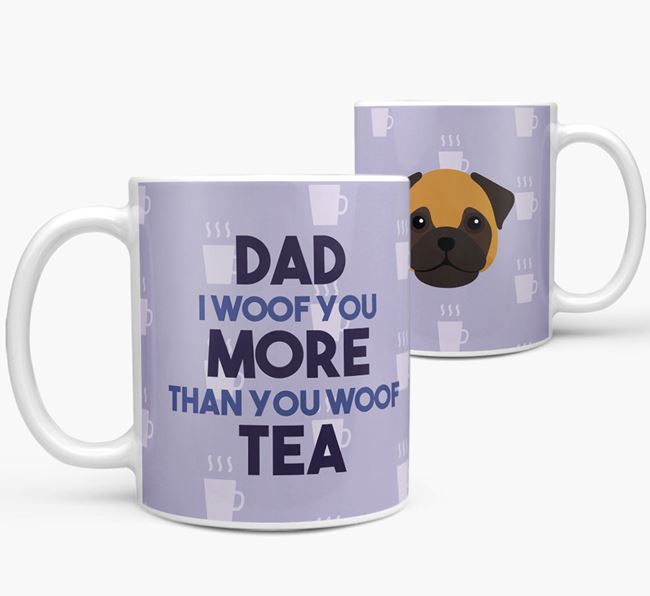 'Dad I woof you more than you woof tea' Mug with Frug Icon