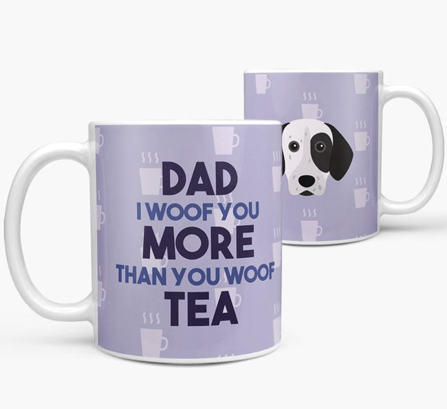 'Dad I woof you more than you woof tea' Mug with German Shorthaired Pointer Icon