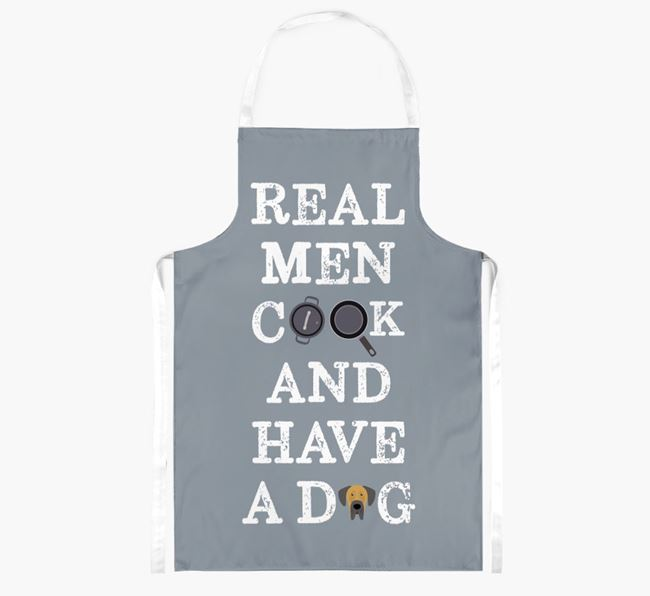 'Real Men Cook And Have A Dog' Apron with Dog Icon