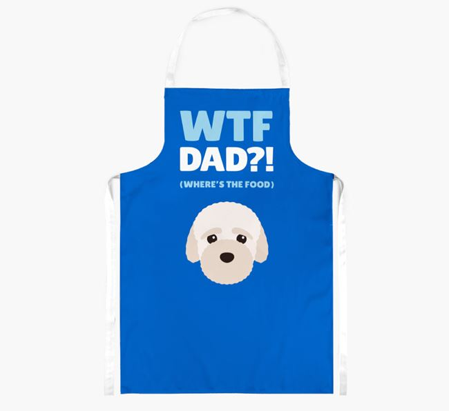 'Where's The Food Dad?!' Apron with Bich-poo Icon