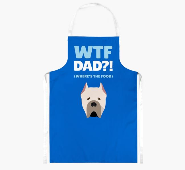 'Where's The Food Dad?!' Apron with Cane Corso Italiano Icon