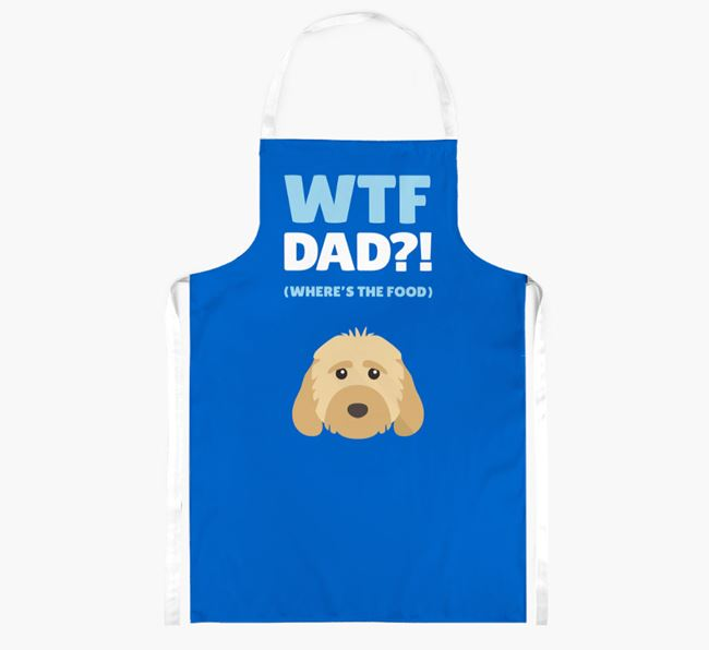 'Where's The Food Dad?!' Apron with Dog Icon