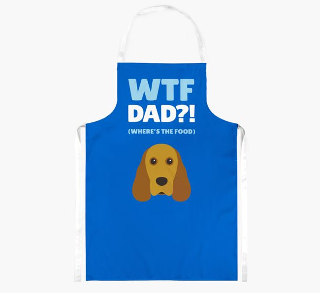 'Where's The Food Dad?!' Apron with Cocker Spaniel Icon