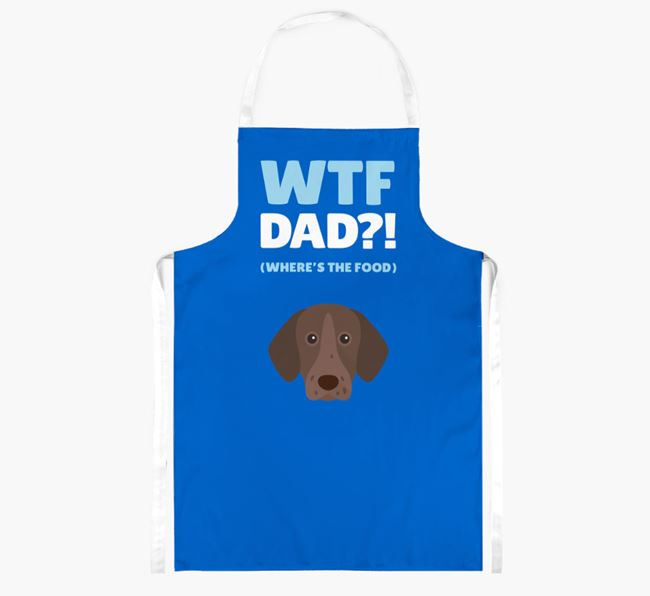 'Where's The Food Dad?!' Apron with German Shorthaired Pointer Icon