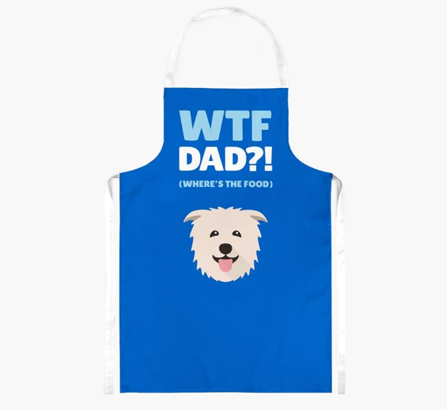 'Where's The Food Dad?!' Apron with Glen Of Imaal Terrier Icon