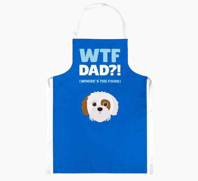 'Where's The Food Dad?!' Apron with Jack-A-Poo Icon