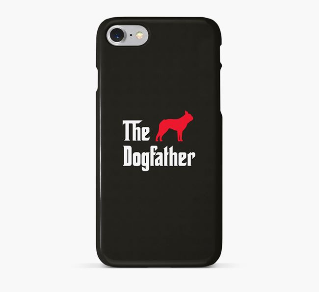 'The Dogfather' Phone Case with Dog Silhouette