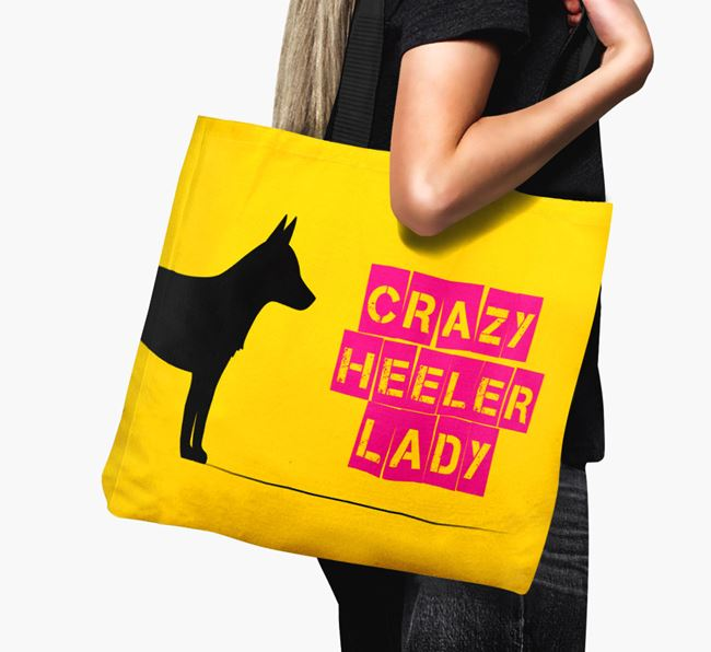 Crazy Heeler Lady Canvas Bag
