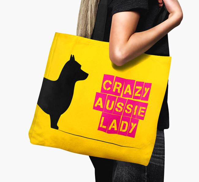 Crazy Aussie Lady Canvas Bag