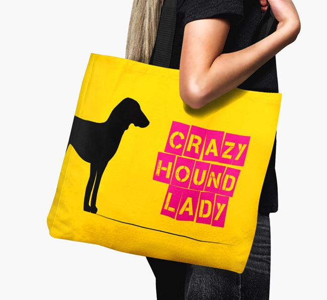 Crazy Hound Lady Canvas Bag