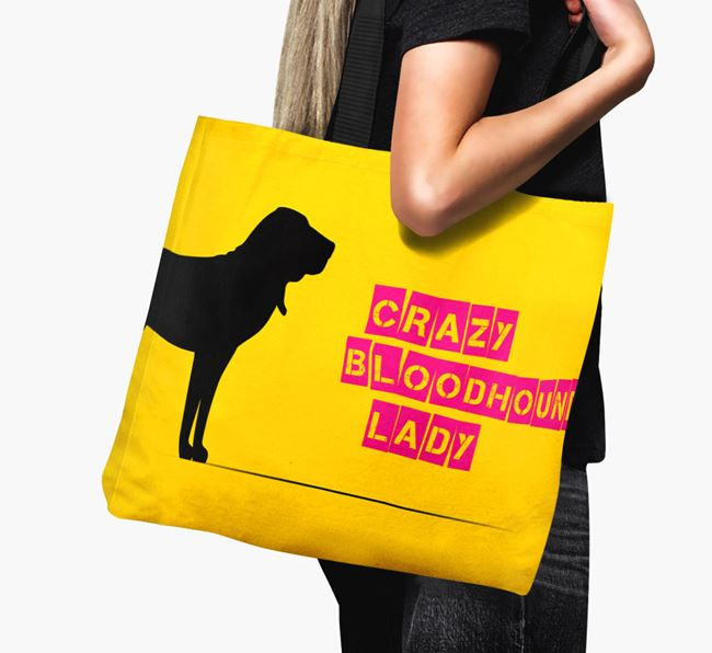 Crazy Bloodhound Lady Canvas Bag