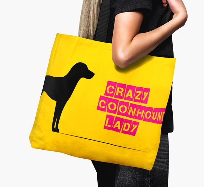 Crazy Coonhound Lady Canvas Bag
