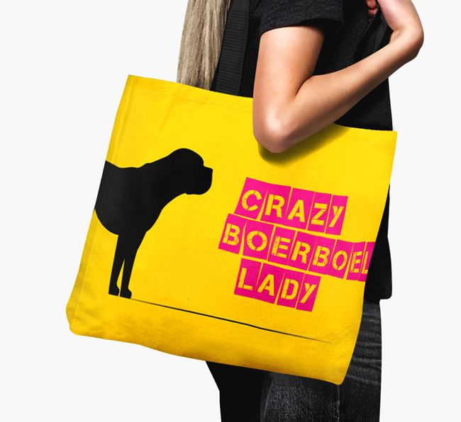Crazy Boerboel Lady Canvas Bag