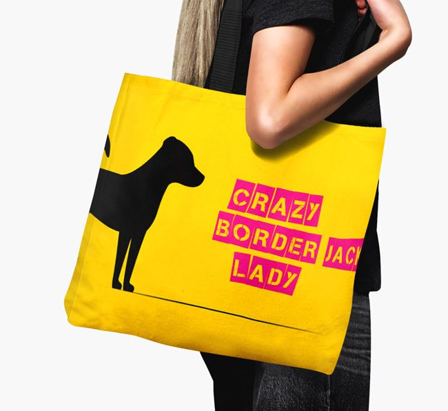 Crazy Border Jack Lady Canvas Bag