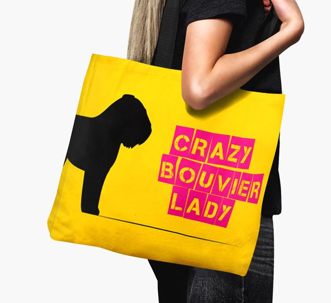 Crazy Bouvier Lady Canvas Bag