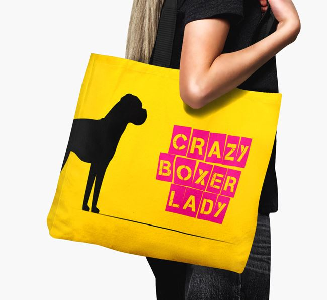 Crazy Dog Lady Canvas Bag