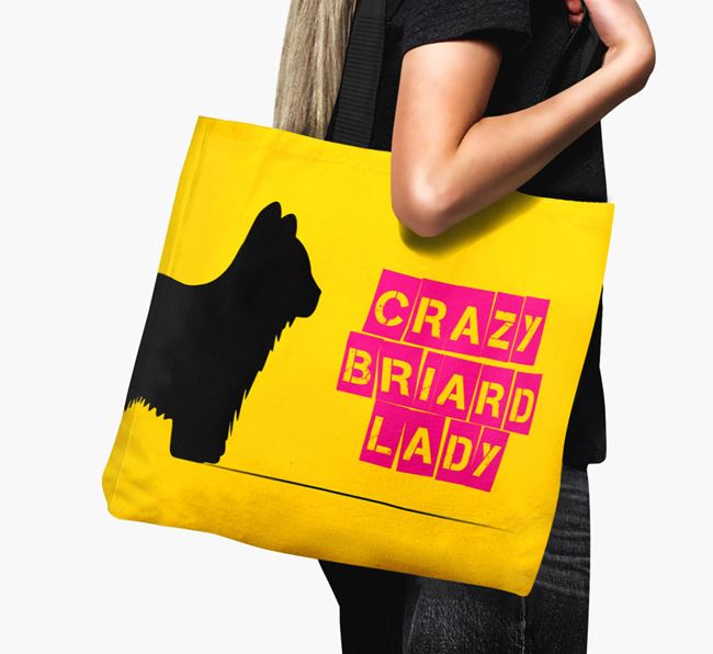 Crazy Briard Lady Canvas Bag