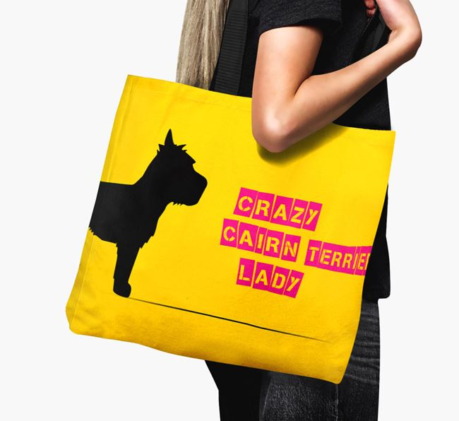 Crazy Cairn Terrier Lady Canvas Bag