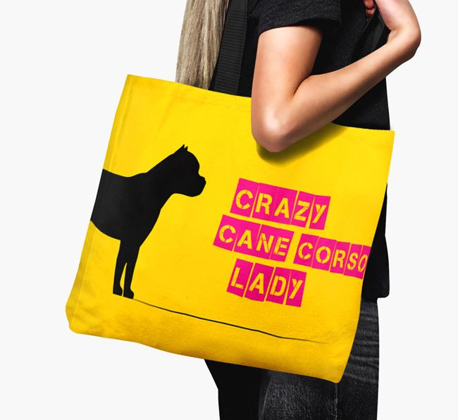 Crazy Cane Corso Lady Canvas Bag
