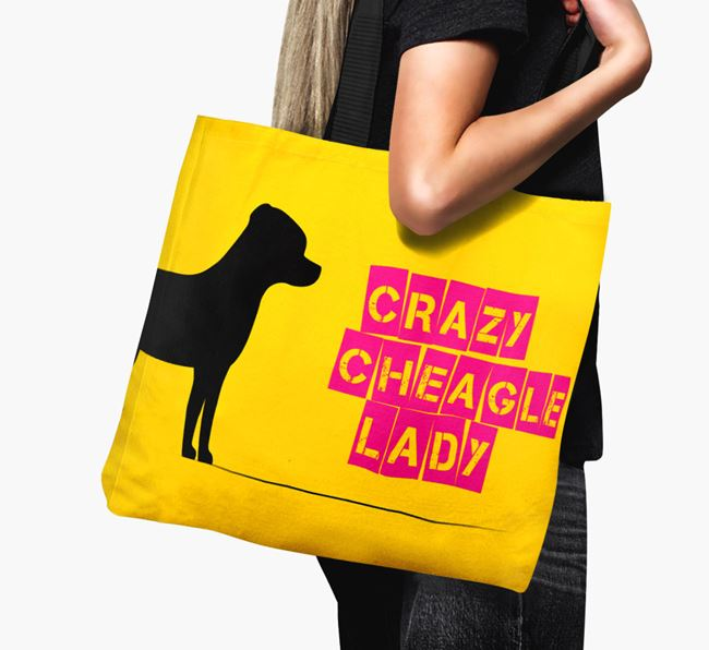Crazy Cheagle Lady Canvas Bag