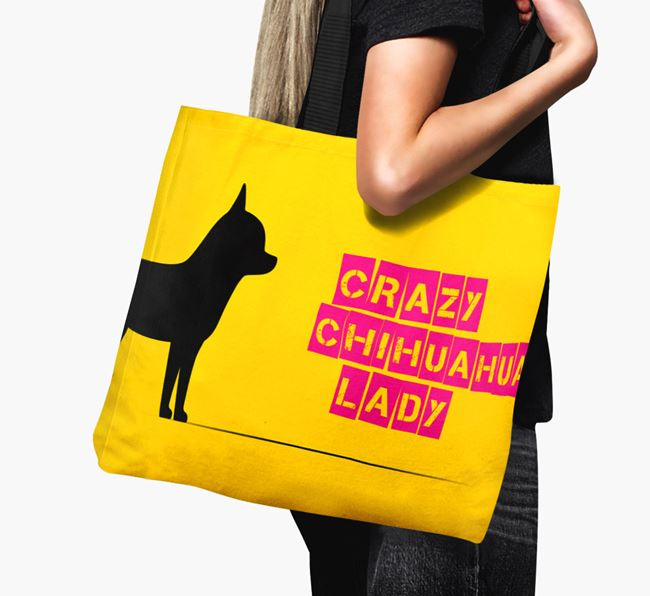 Crazy Chihuahua Lady Canvas Bag