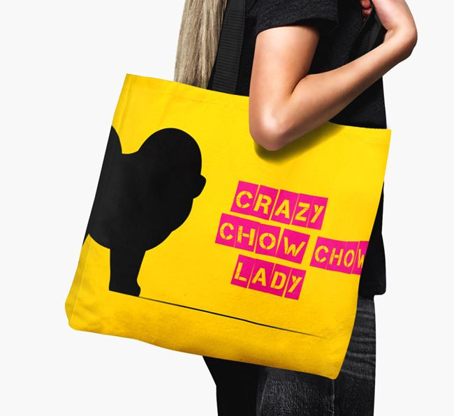 Crazy Chow Chow Lady Canvas Bag