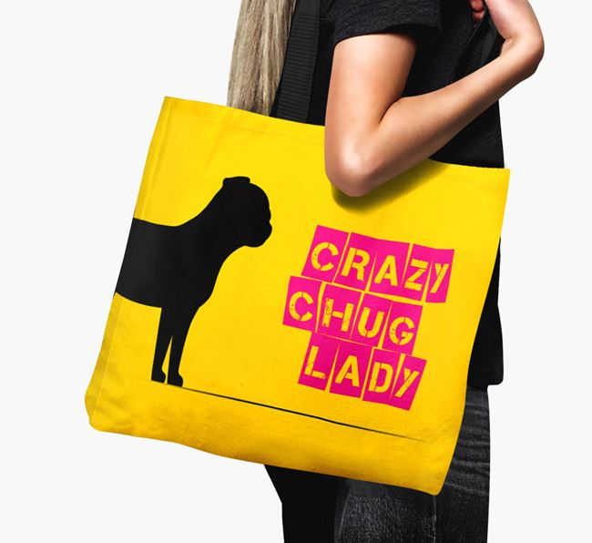 Crazy Chug Lady Canvas Bag