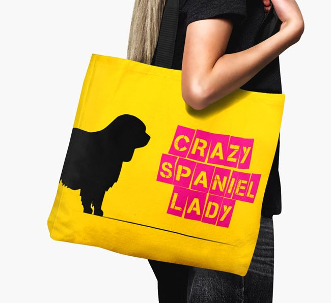 Crazy Spaniel Lady Canvas Bag