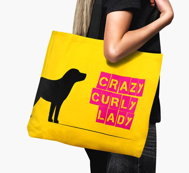 Crazy Curly Lady Canvas Bag