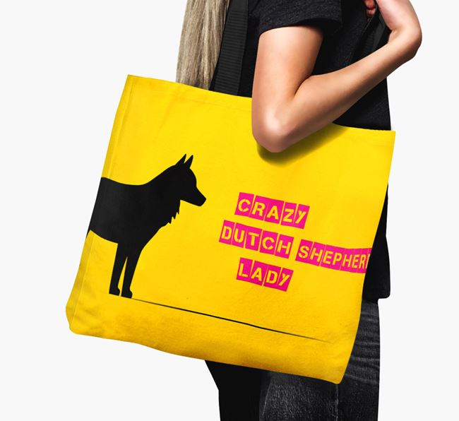 Crazy Dutch Shepherd Lady Canvas Bag