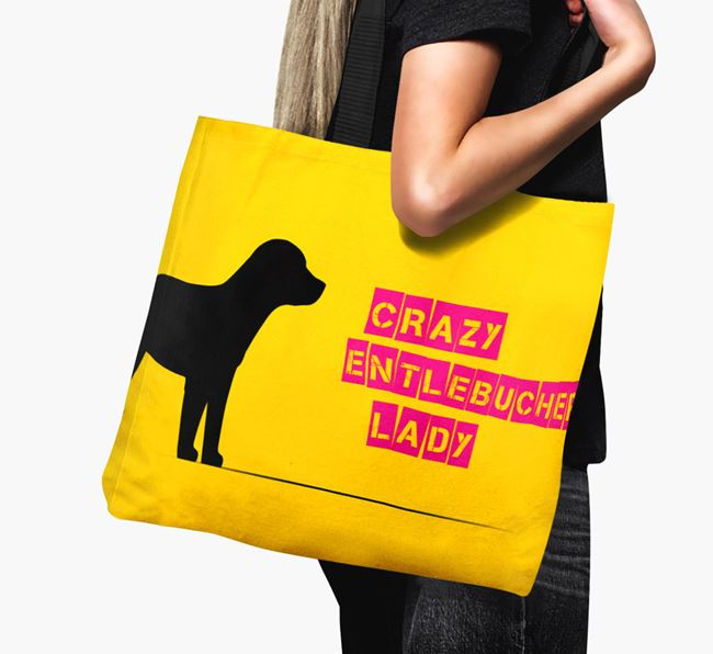 Crazy Entlebucher Lady Canvas Bag