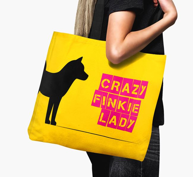Crazy Finkie Lady Canvas Bag