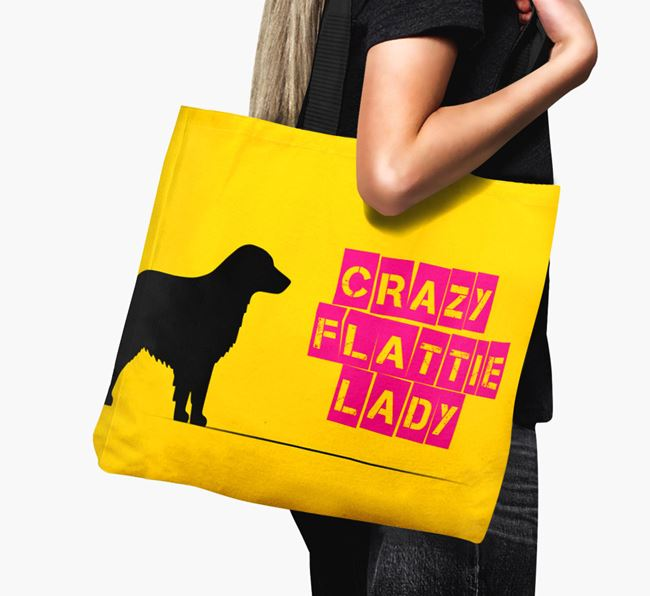 Crazy Flattie Lady Canvas Bag