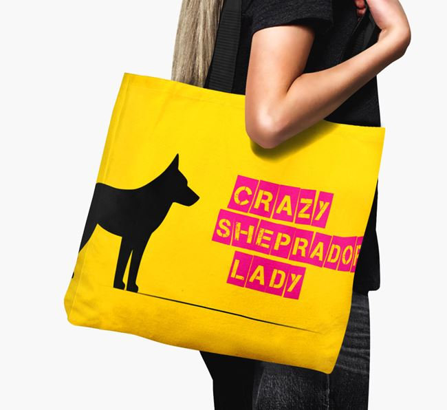 Crazy Sheprador Lady Canvas Bag
