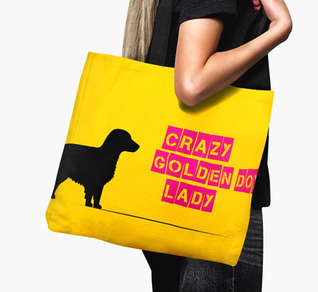 Crazy Golden Dox Lady Canvas Bag