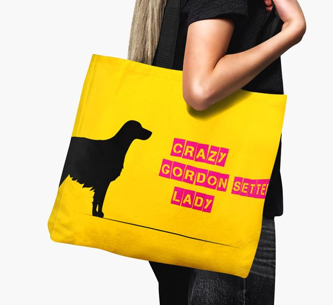 Crazy Gordon Setter Lady Canvas Bag