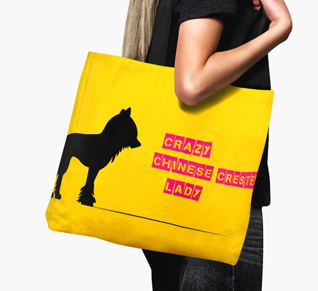 Crazy Chinese Crested Lady Canvas Bag