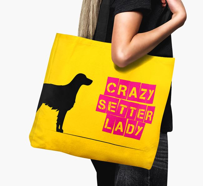 Crazy Setter Lady Canvas Bag