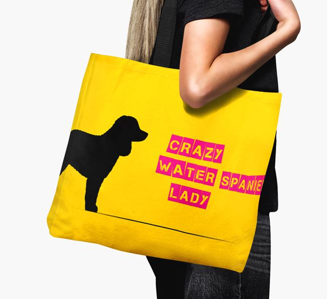Crazy Water Spaniel Lady Canvas Bag