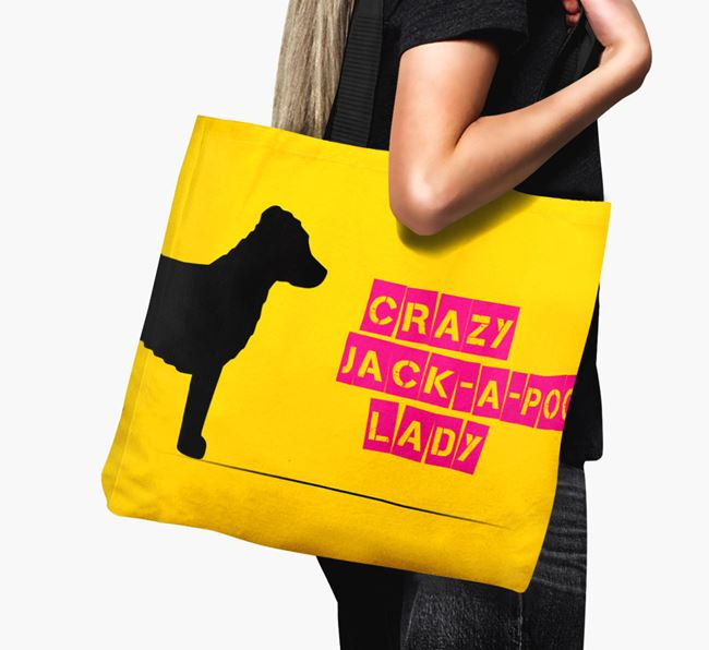 Crazy Jack-a-Poo Lady Canvas Bag