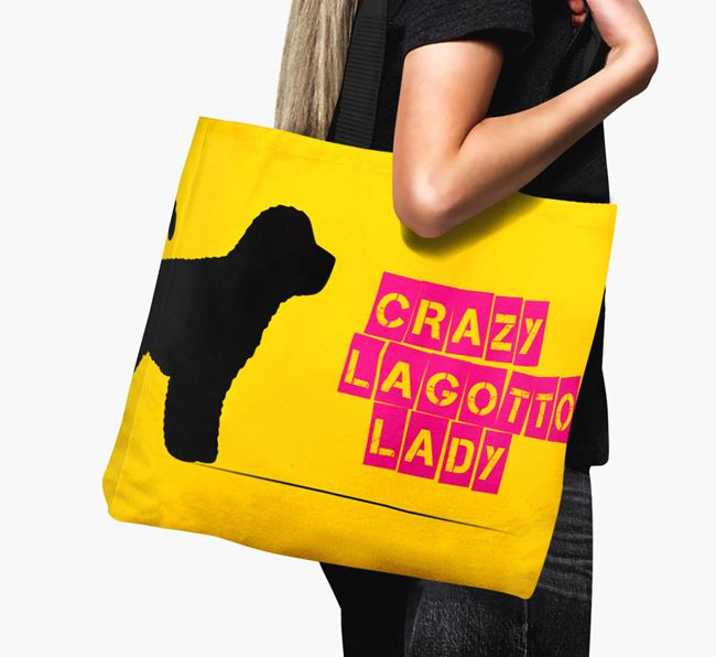 Crazy Lagotto Lady Canvas Bag