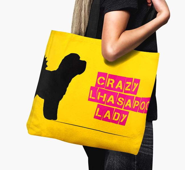 Crazy Lhasapoo Lady Canvas Bag
