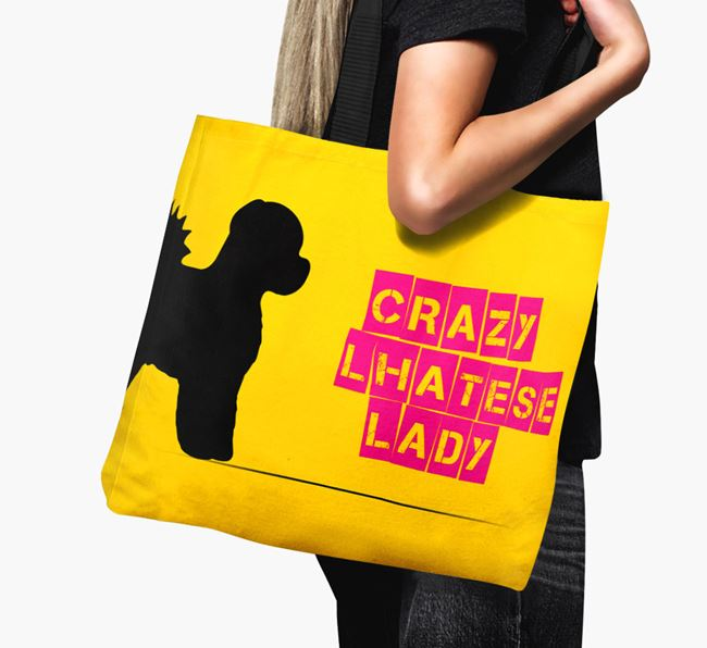 Crazy Lhatese Lady Canvas Bag