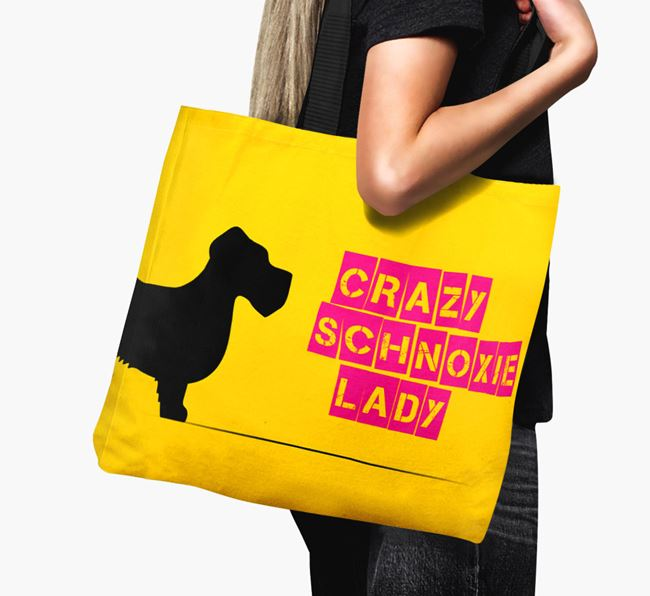 Crazy Schnoxie Lady Canvas Bag