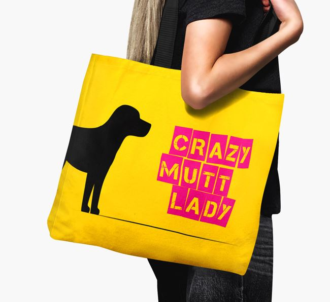 Crazy Mutt Lady Canvas Bag