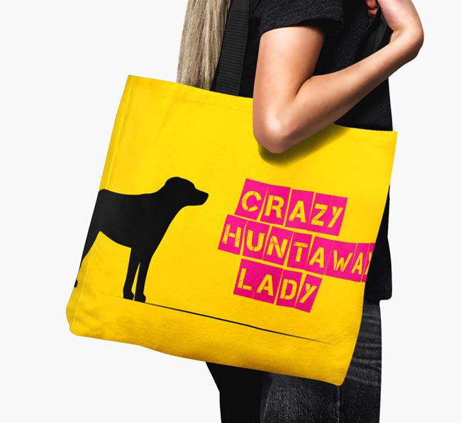 Crazy Huntaway Lady Canvas Bag